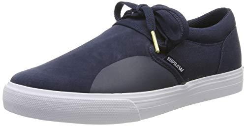 Supra Cuba, Zapatillas de Skateboard Unisex Adulto, Azul (Navy-White-M 402), 38 EU