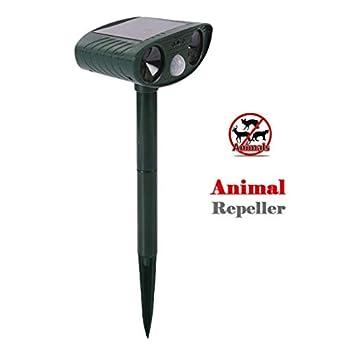 LXJ-KLD Répulsif Chats Exterieur,Ultrason Animal Repeller, extérieur Haute Puissance Solaire Animal Repeller ultrasonique Chien Chat Repeller avec PIR capteur lumière