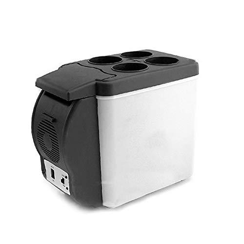 MeterBew1147 12V 6L Mini Refrigerador de Coche Refrigerador de Bebidas de Doble Uso Calentador Abs Congelador de Viaje portátil al Aire Libre Refrigerador Universal - Negro