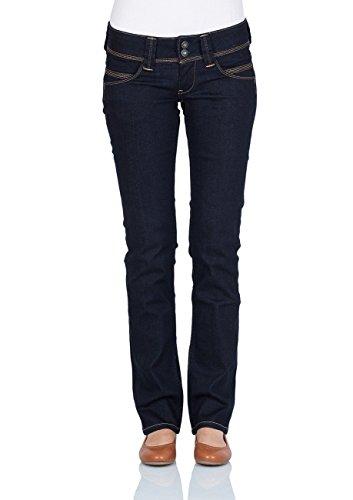 Pepe Jeans Damen Venus Jeans, 10oz Rinse Plus, 25W / 32L