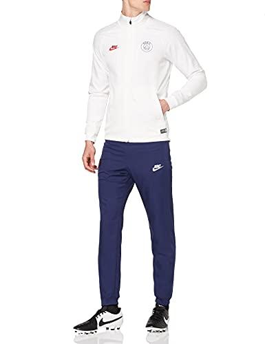 Nike PSG Mnk Dry Strk TRK Suit W Cl, Tuta Uomo, White/Midnight Navy/University Red, M