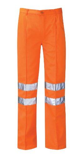 Hercules Pcrttr Delta Rail Maat 50 Werkbroek Reg Been - Oranje