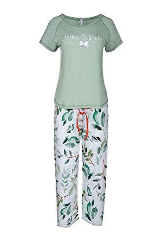 Louis&Louisa Damen Pyjama Natur Schönheit Mint Nachtwäasche Gr.M