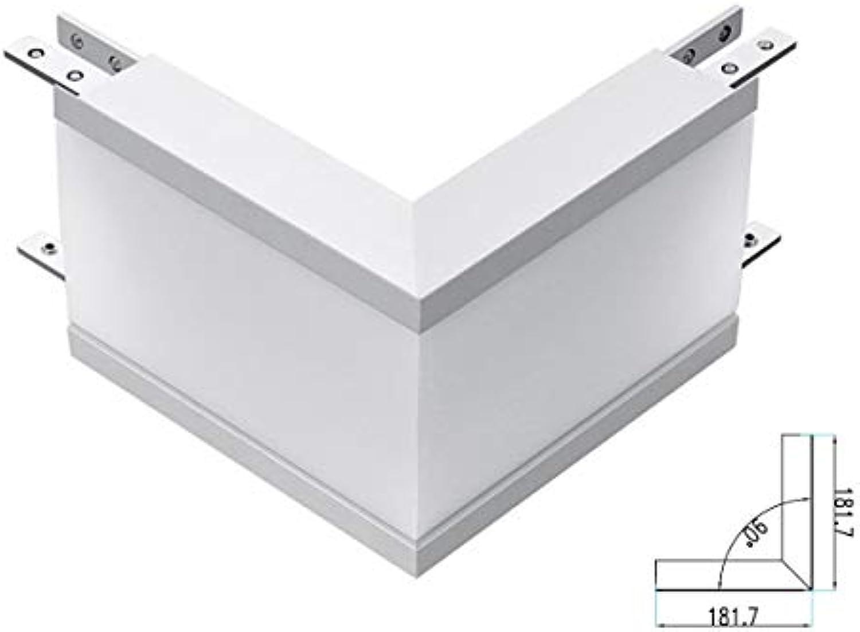 LEDLUX Verbindungsstück Form L Kurve Winkel Auen 12 W Wei 4000 K Für LED Lineatur Unterputz FP0381 SKU-389