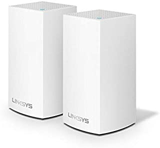 Linksys WHW0102-ME Velop Dual-Band Whole Home Mesh WiFi System, White