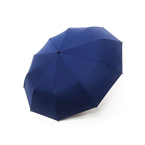 DTKJ Paraguas de Negocios Totalmente automático, Paraguas Plegable, protección Solar efectiva, Lluvia o Brillo, Ampliar la Superficie del Paraguas