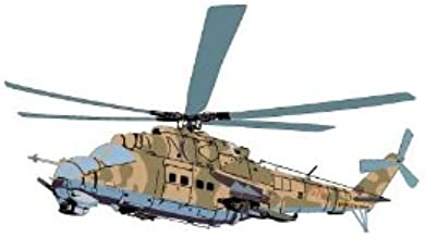 Vehicle Wall Decals - Military Camouflage Helicopter - 12 inch Removable Graphic