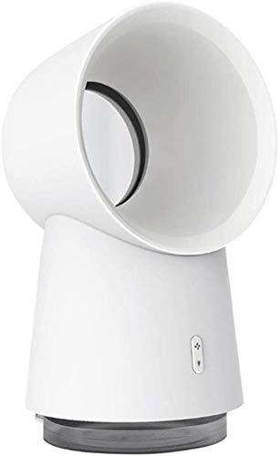 LG Snow Sin aspas del ventilador, escritorio portátil ventilador de refrigeración de aire personal del refrigerador del multiplicador del aire silencioso Tabla Ligera humidificador de luz LED, tranqui