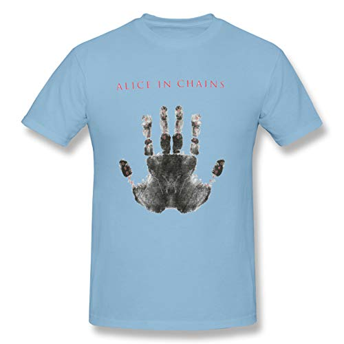 Alice In Chains Birth Dates Hand Man Short Sleeve T-Shirt Rock Soft T-Shirts Sky Blue XXL