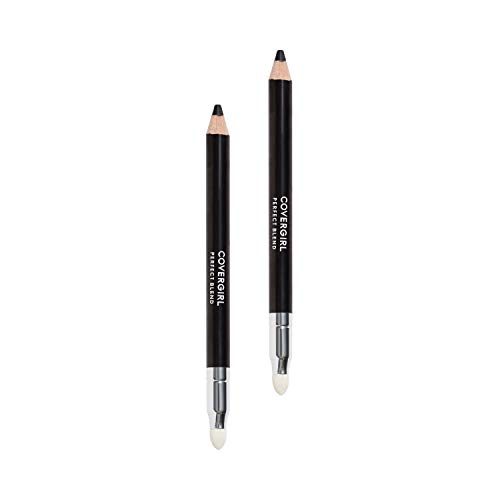 Covergirl Perfect Blend Eyeliner Pencil, Basic Black Color, Eyeliner Pencil With Blending Tip for Precise Or Smudged Look, 2 Count