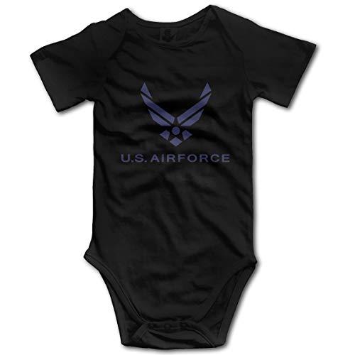 U are Friends Air Force Nouveau-né GILR Boy Kid bébé Barboteuse bébé à Manches Courtes pour Tout-Petit(0-3M,Noir)