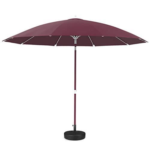 sy Sonnenschirme Outdoor Umbrella/Garden Umbrella/Medium Column Umbrella, Aluminium wasserdicht und UV-beständig Glasfaser einfach zu Falten, einfach und modern
