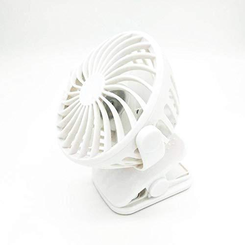 Preisvergleich Produktbild UIEJHN Mini USB Ventilator 360 Drehbare Tischventilator mit Wiederaufladbare Batterie 4 Geschwindigkeitsstufen, White