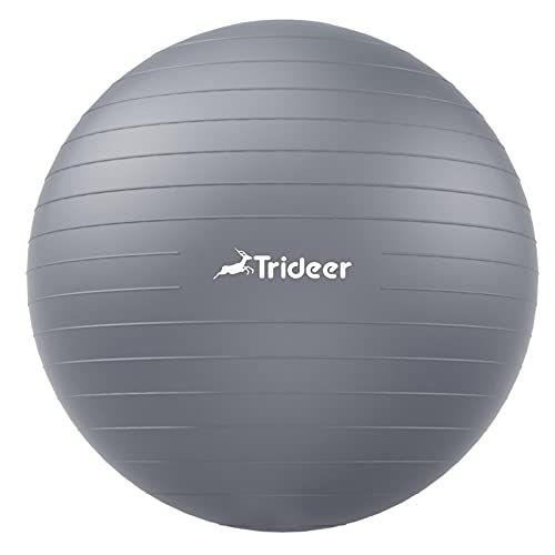 Trideer Dicker Gymnastikball, Anti-Burst Pilates Ball, 45-85 cm sitzball büro,für Balance, Yoga als Fitness Kleingeräte und Balance Stuhl im Gym-Home-Büro