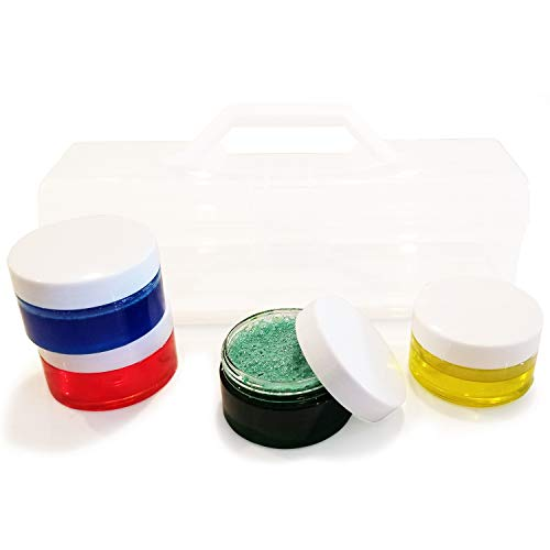 DIY Slime Kit Case with 4-Pack Jars Containers for Fluffy Wet Satisfying Slime Best Slime KIT Deal