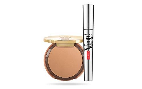 PUPA Pupa Milano extreme bronze kit foundation 002 & vamp waterproof mascara