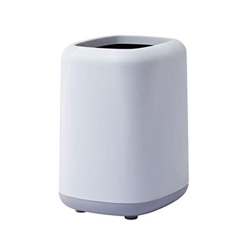 Poubelle Corbeille Nordique Peut-□ Bin Poubelle rectangulaire, Corbeille for Salle de Bains, Chambre, Bureau et Plus Bacs à déchets (Color : Purple, Taille : 12L)