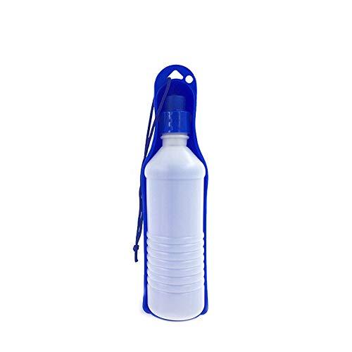 QTDCL Heimtierbedarf 250 Ml 500 Ml Hund Trinkflasche Cat Waterer Welpen Trinker Reisen Outdoor Wasserkocher Heimtierbedarf, 500 Ml, blau
