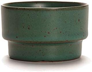 ティーカップは古式の粗雑陶の手工芸をまねます。 竹节杯(青铁釉)