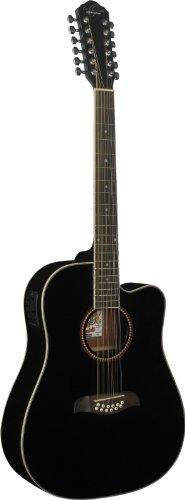 Oscar Schmidt ISOSCOD312CEBLK Guitarra Electroacustico Od312Ce, Negro Negro
