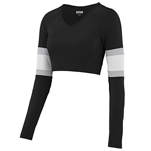Augusta Sportswear Girls' 9020-C 354 2XL, Black/White/Metallic Silver, XX-Large