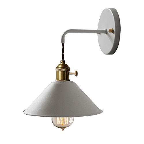 E27 Lampada da parete Applique da parete vintage in metallo interna Luce da Muro rustica retrò interna in ferro per cucina, soppalco, ristorante, bar, camera da letto e decorazione sala (grigio)