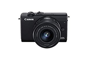 Canon EOS M200 with EF-M 15-45mm f/3.5-6.3 IS STM Lens (Black ) – Easy to use mirrorless camera with a 180° flip-out touch screen, 4K video, time-lapse movies, Wi-Fi and Bluetooth. Amazon Exclusive.