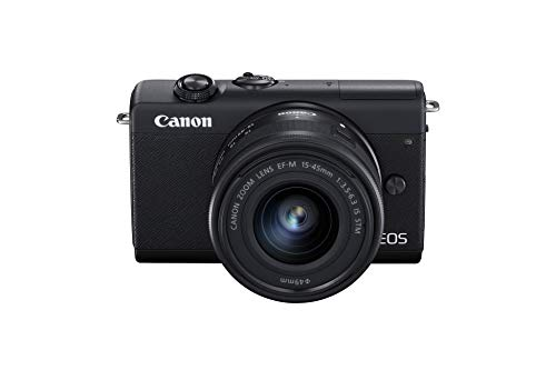 Canon EOS M200 with EF-M 15-45mm f/3.5-6.3 IS STM Lens (Black ) – Easy to...