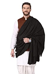 Pashtush Mens Thick Blended Wool Lohi, Mens Shawl with 50% Australian Merino Wool