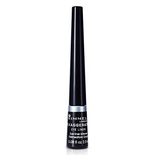 Rimmel London Exaggerate Automatic Waterproof Delineador de Ojos líquido, Tono 001 Negro, 2.5 ml