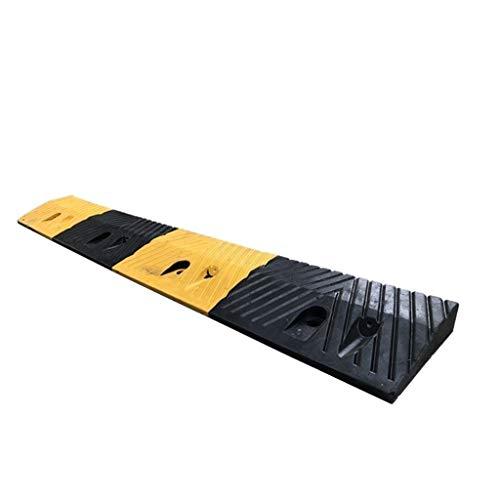 Rampas de Caucho, multifunción Umbral Rampas Amarillo y Negro Familiares al Aire Libre rampas de accesibilidad en Carretera Carretilla Rampas (Size : 100 * 15 * 3.8cm)
