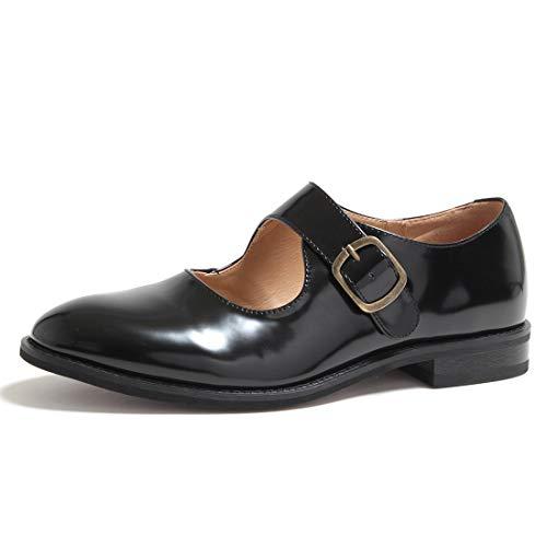 [シュベック] レディース メンズ オペラ シューズ カジュアルシューズ ローファー ストラップ マニッシュ 靴 スニーカー ストラップシューズ スリッポン SPT366-2042BLKCN 42(26.0cm) ブラックコードバン