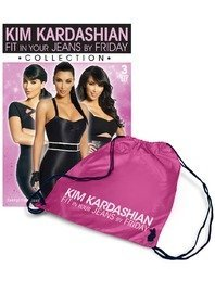 Kim Kardashian ~ Fit In Your Jeans By Friday Collection (3 DVDS) + free gym bag! (PAL) (REGION 0)