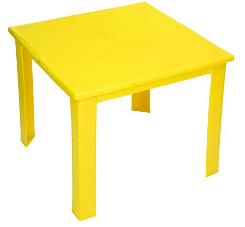 e2e Kids Children Plastic Home Garden Picnic Folding Foldable Table (Yellow)