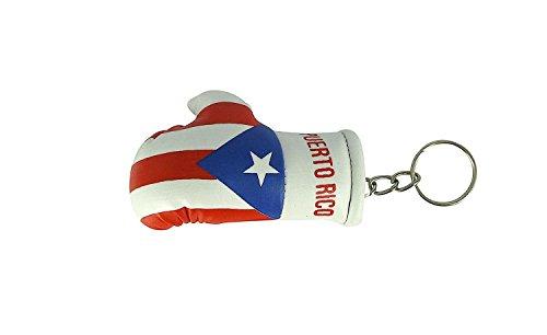 Schlüsselanhänger mit Motiv: Boxhandschuh, Auto, Motorrad, Flagge, Puerto Rico