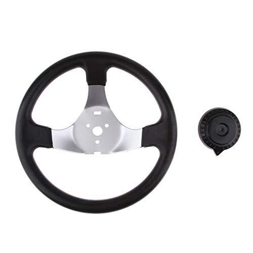 Homyl 1 Stück Go Kart Buggy Quad Lenkrad Metall außen mit hartem schwarzem Kunststoff