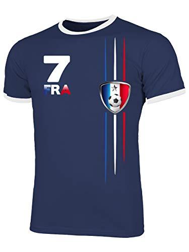 Frankreich France Fanshirt Fussball Fußball Trikot Look Jersey Herren Männer Ringer Tee t Shirt Tshirt t-Shirt Fan Fanartikel Outfit Bekleidung Oberteil Hemd Artikel