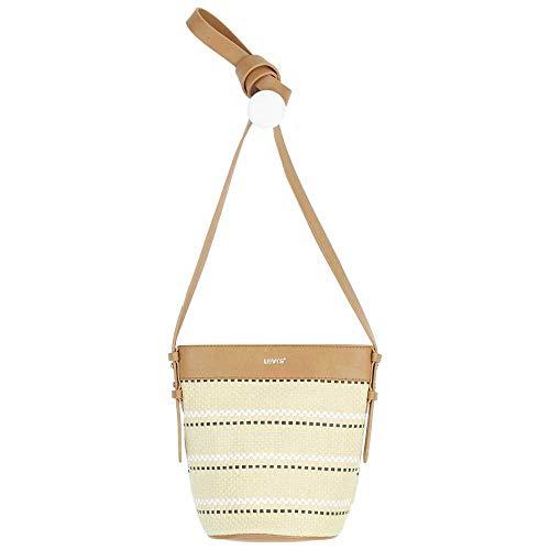 Levi's Women's Bucket Bag, Borsa a Secchiello Donna, Beige, Taglia Unica