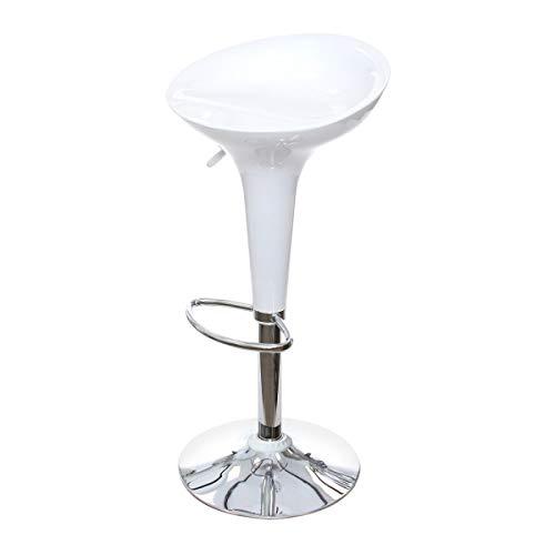 Totò Piccinni Sgabello Bar ARIZONA girevole 360° regolabile in altezza (Bianco, 1 Pz)