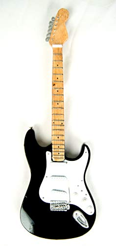 Guitarra decorativa en miniatura de los años 70 (24 cm), color negro #205