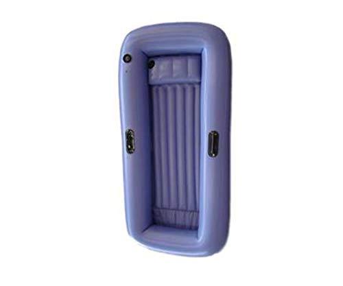 GRASEKAMP Qualität seit 1972 Luftbett 200x90cm Luftmatratze Matratze Liegematratze PVC Blau