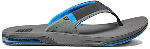 Reef Hombre Fanning Low Flipflop, Grey/Blue, 43 EU