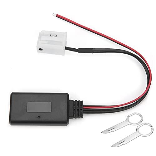 Adaptador Bluetooth Auxiliar para automóvil Cable de Entrada Auxiliar Bluetooth Módulo Auxiliar a Bluetooth Adaptador de Audio inalámbrico Compatible con Volkswagen Delta 6/7 Premium 6/7 R100