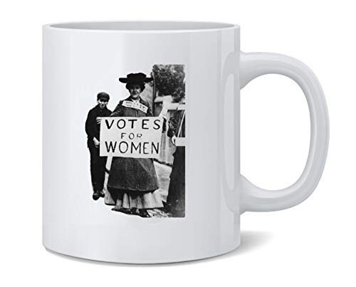 Poster Foundry Votes for Women Suffragette Photo Feminist Election Political MJ Ceramic Coffee Mug Tea Cup Fun Novelty Gift 12 oz