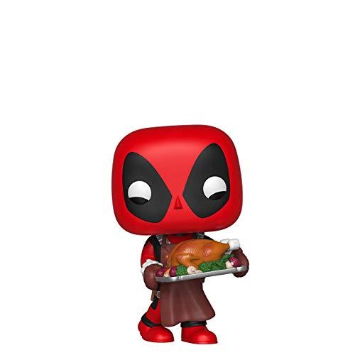 Funko- Pop Bobble in Vinile Marvel: Holiday-Deadpool Figura da Collezione, Multicolore, 43337