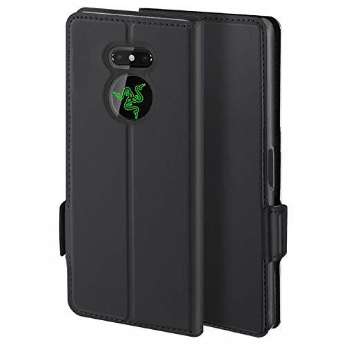 HoneyHülle für Handyhülle Razer Phone 2 Hülle Premium Leder Flip Schutzhülle für Razer Phone 2 Tasche, Schwarz