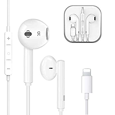 In-Ear Earphones/Earbuds/Wired Headphones Noise Isolating Earphones Built-in Mic&Volume Control & Noise Cancellation Compatible iPhone 11/11 Pro/XS Max/iPhone 8/8plus 7/7plus /12 by BOWIS