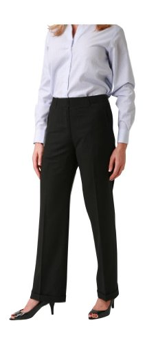 woolmaster Women's Seasonless Wool Dress Pant 6 Black