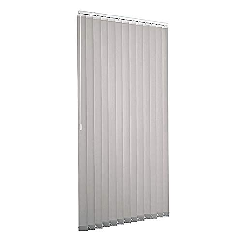 Lamellenvorhang raumverdunkelnd 100% Komplettset Vertikaljalousie 89mm inklusive Montagematerial (Grau, 100 x 250 cm)