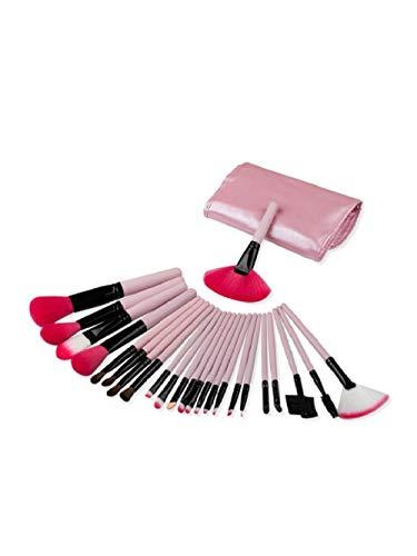 Fanxp® 24Pcs Maquillage Brush Set Délicat En Bois Doux Fibre Avec Brosse Sac-Rose